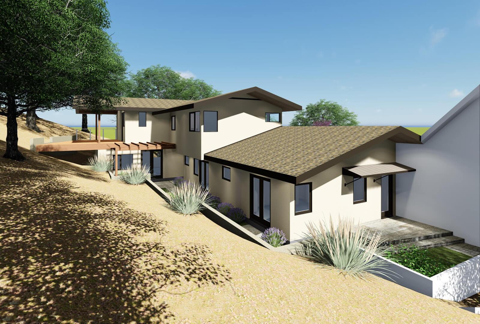 KNR Design Studio | Los Altos Hills Contemporary House Rebuild