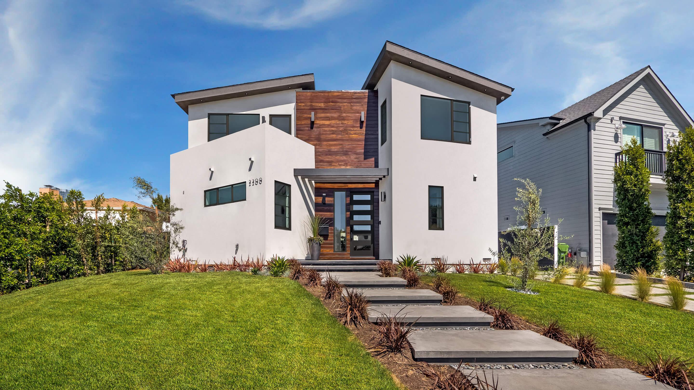 La modern new home exterior