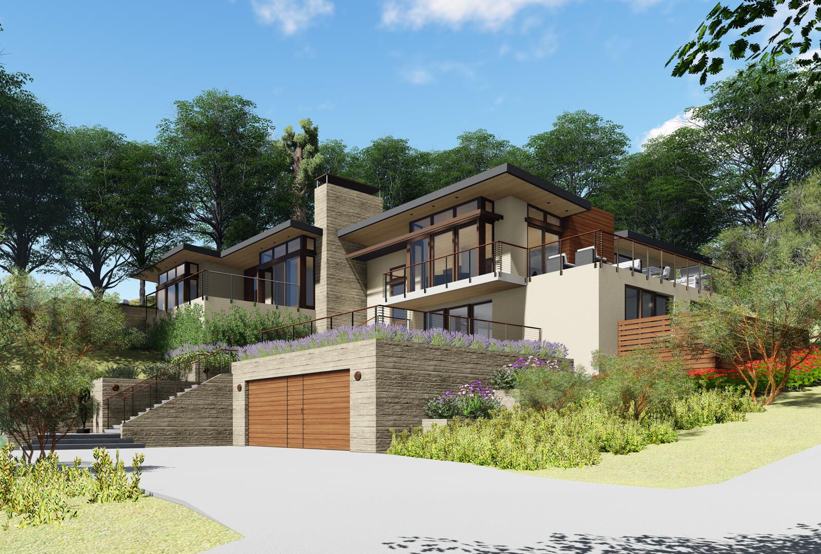 KNR Design Studio | Woodside Modern House Full Tear-Down And Rebuild